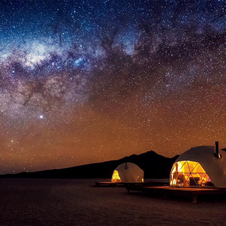ボリビアのウユニ湖にあるロッジ