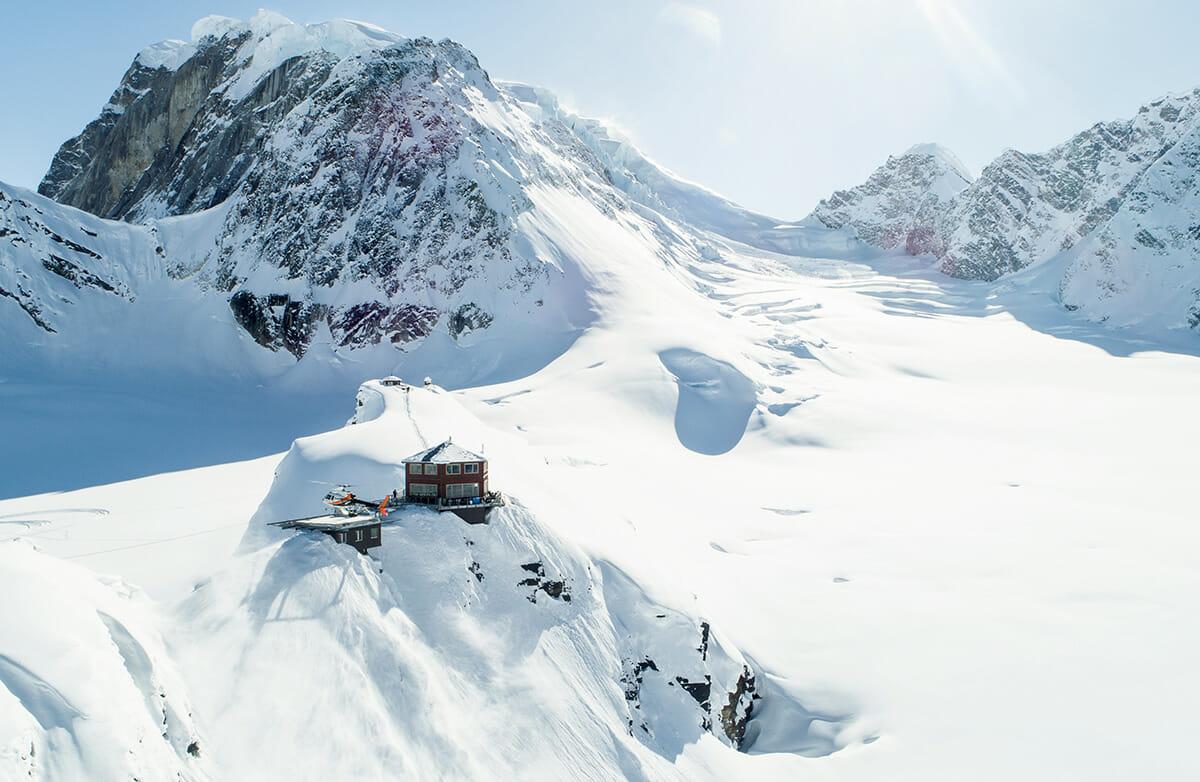 アラスカのデナリ国立公園にあるシャレー