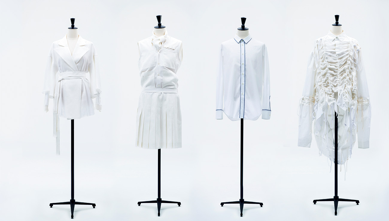 4名のオーダーサンプル。シャツにまつわる、人の思い出や記憶をデザインに落とし込むプロジェクト「Face to Face」。