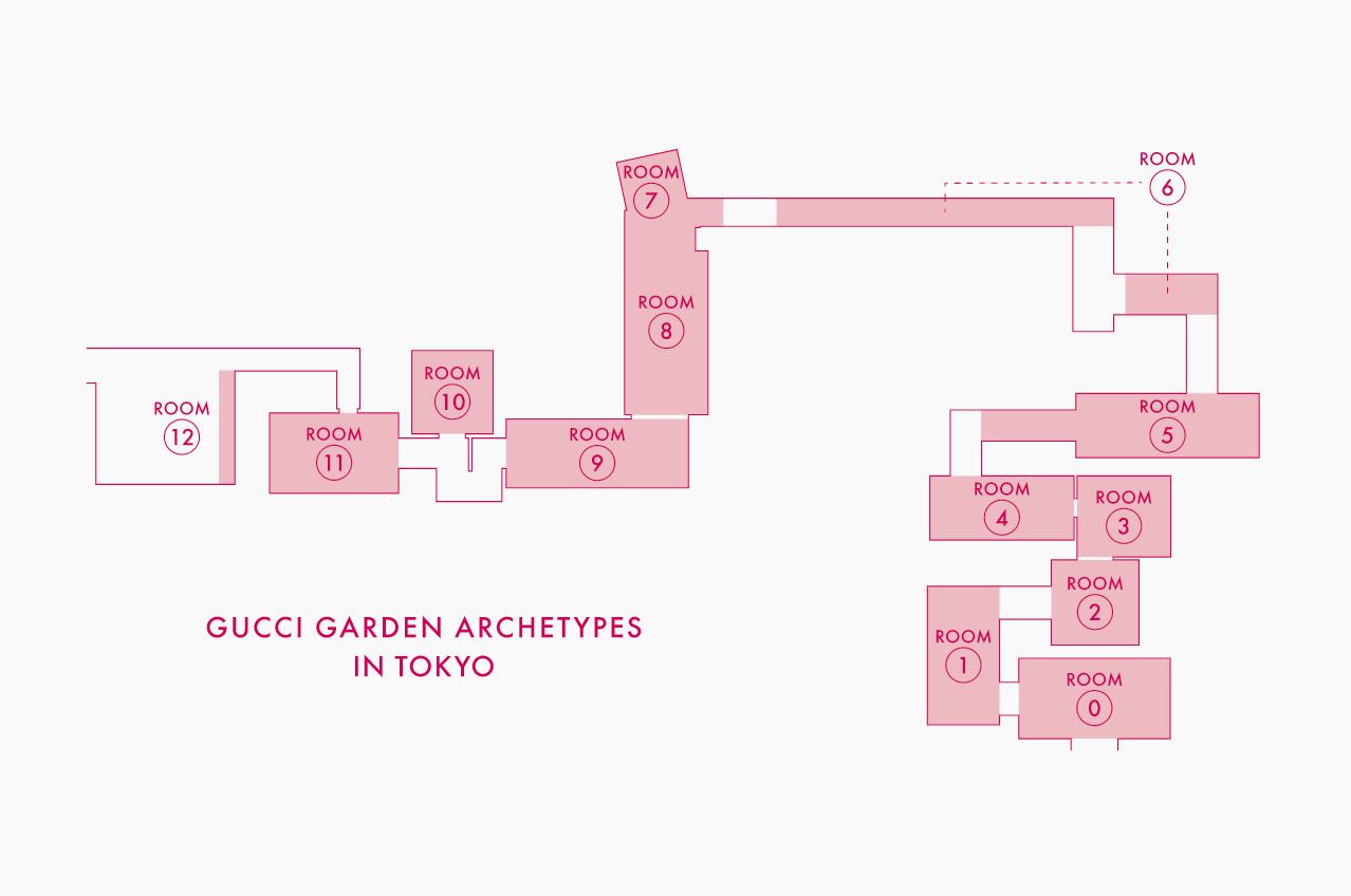 グッチ ガーデン アーキタイプ展 東京 地図