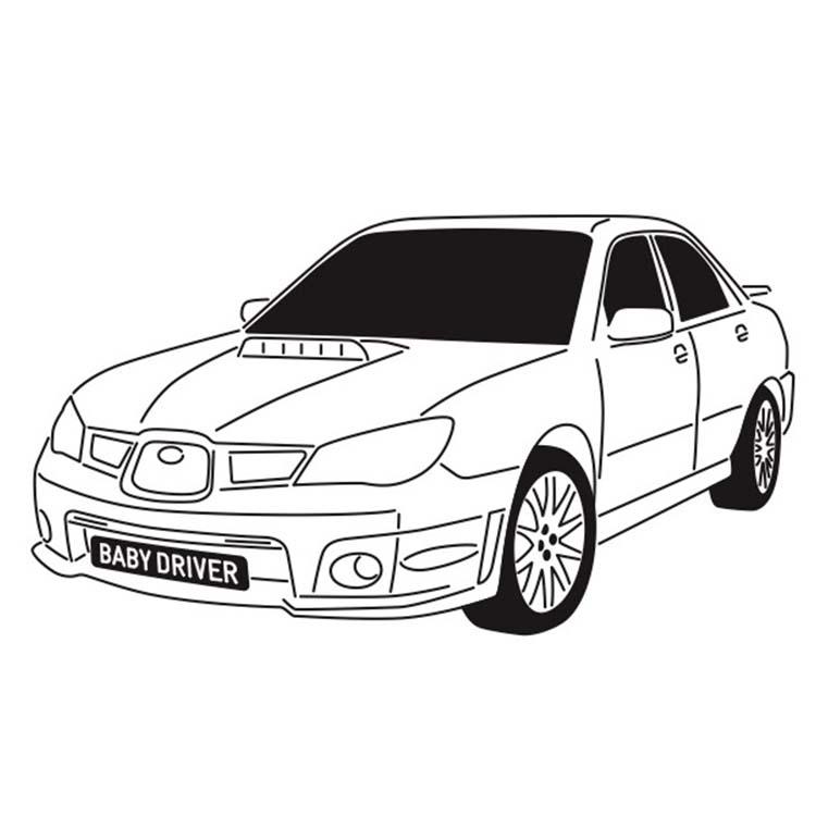 スバル インプレッサWRX 2006 名車探偵 イラスト