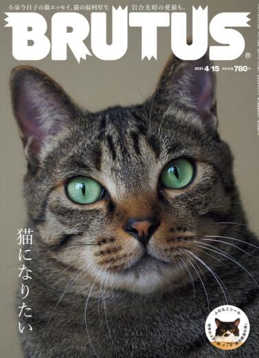 BRUTUS 2021年4月1日発売 #936「猫になりたい」掲載