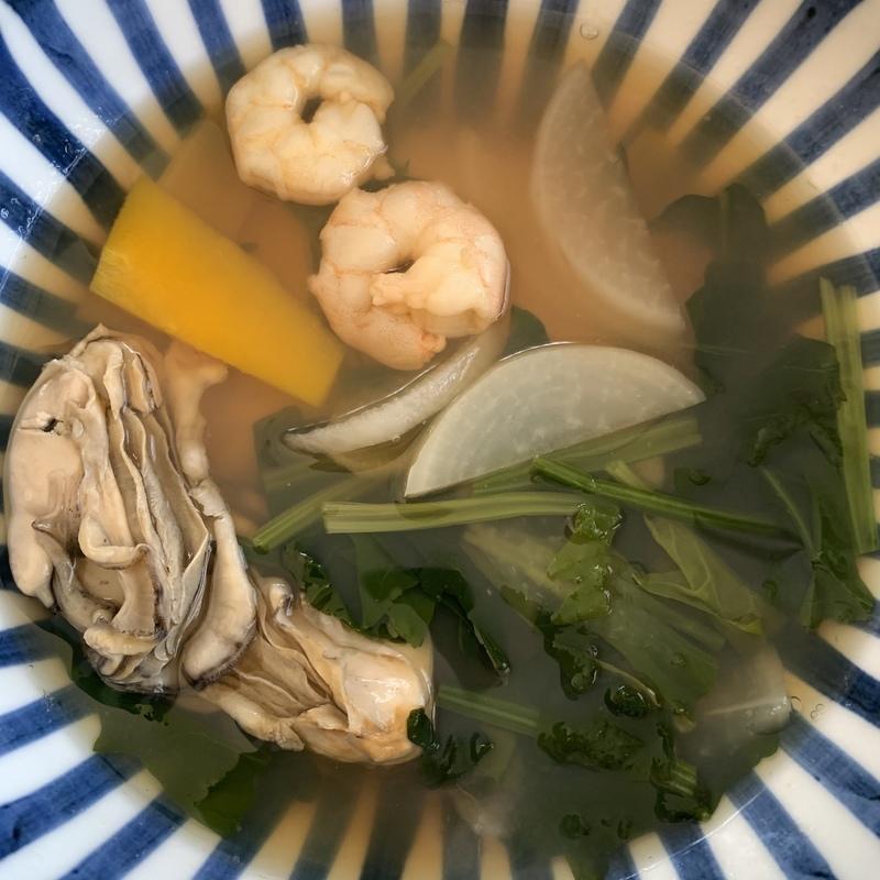 今年の1月にハマった、岡山スタイルの雑煮。