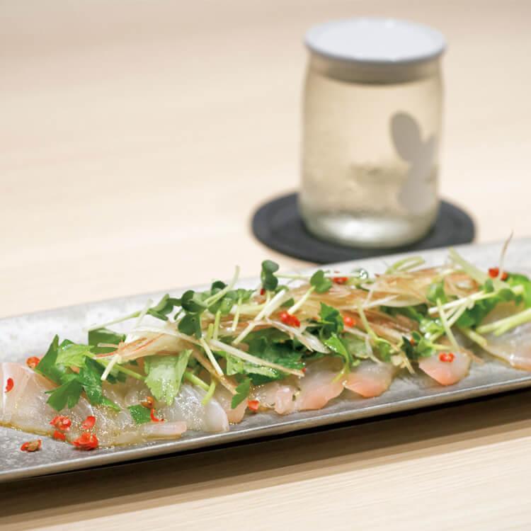 香川産の鮮魚を使ったカガパッチョ