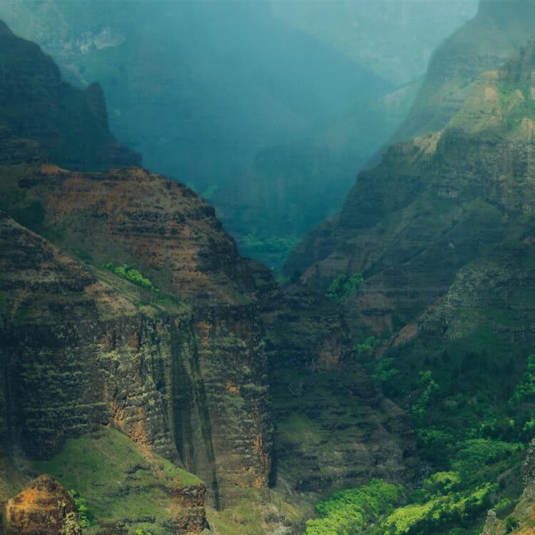 カウアイ島のワイメア渓谷展望台から
