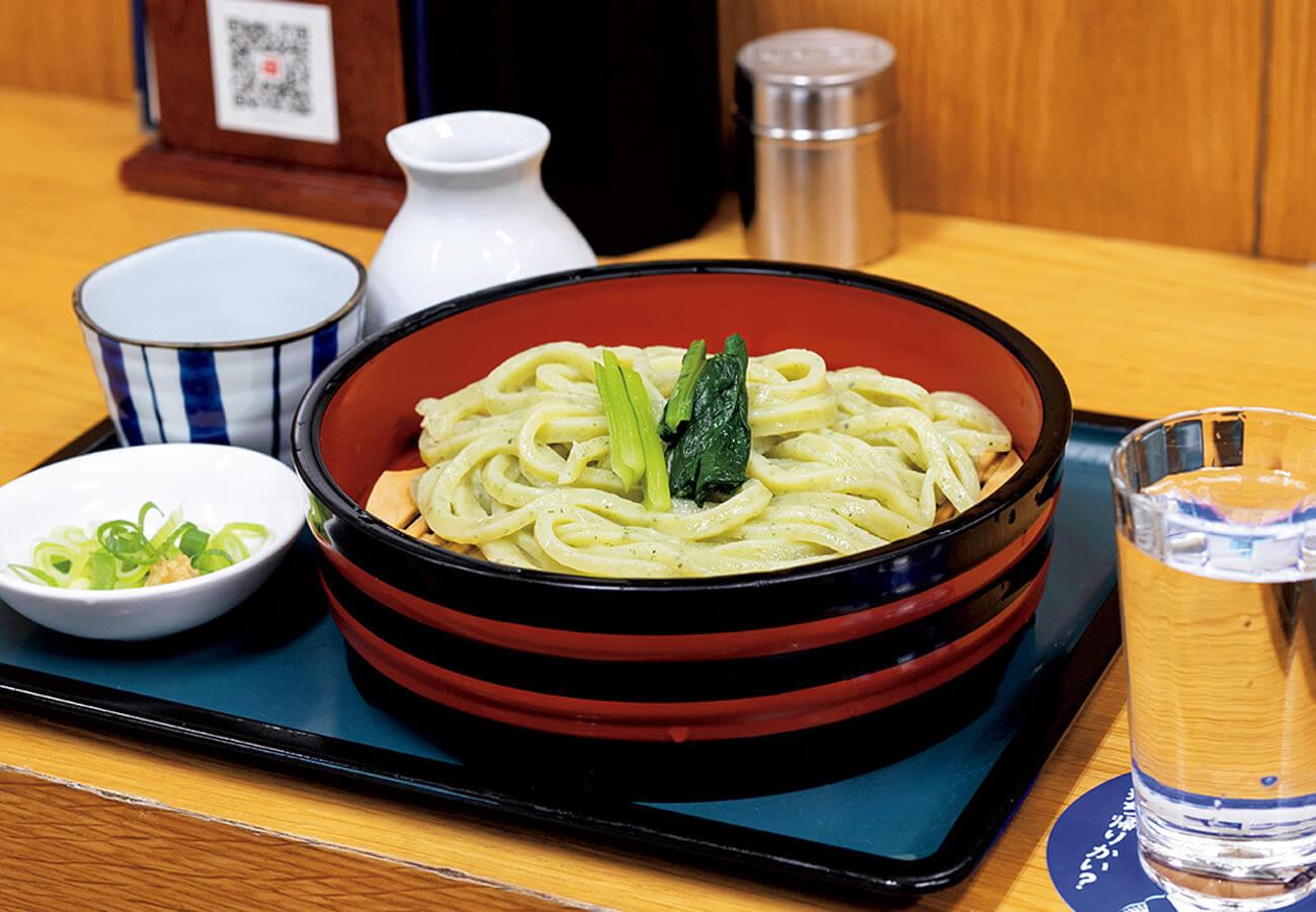 小松菜うどんは¥480。