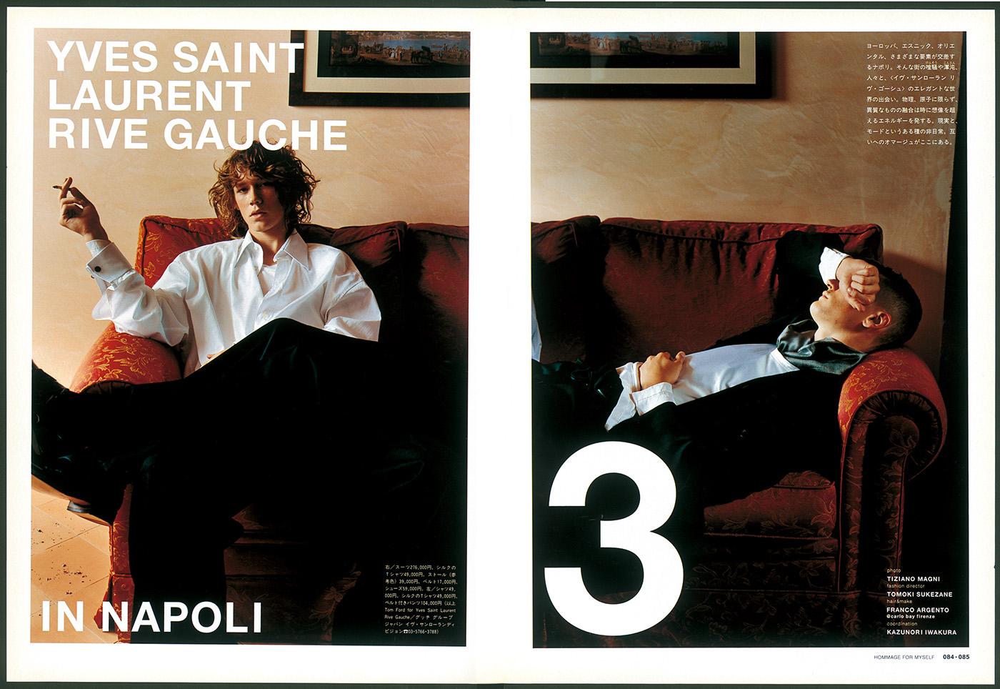 YVES SAINT LAURENT RIVE GAUCHE(BRUTUS no.510 2002/10/1) Fashion Direction/Tomoki Sukezane/Photo:Tiziano Magni/Hair&make:Franco Argento/Coordination:Kazunori Iwakura