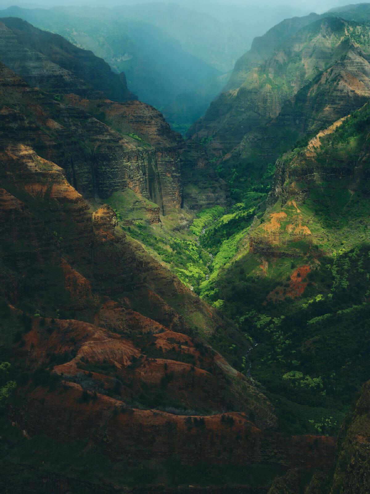 カウアイ島のワイメア渓谷展望台