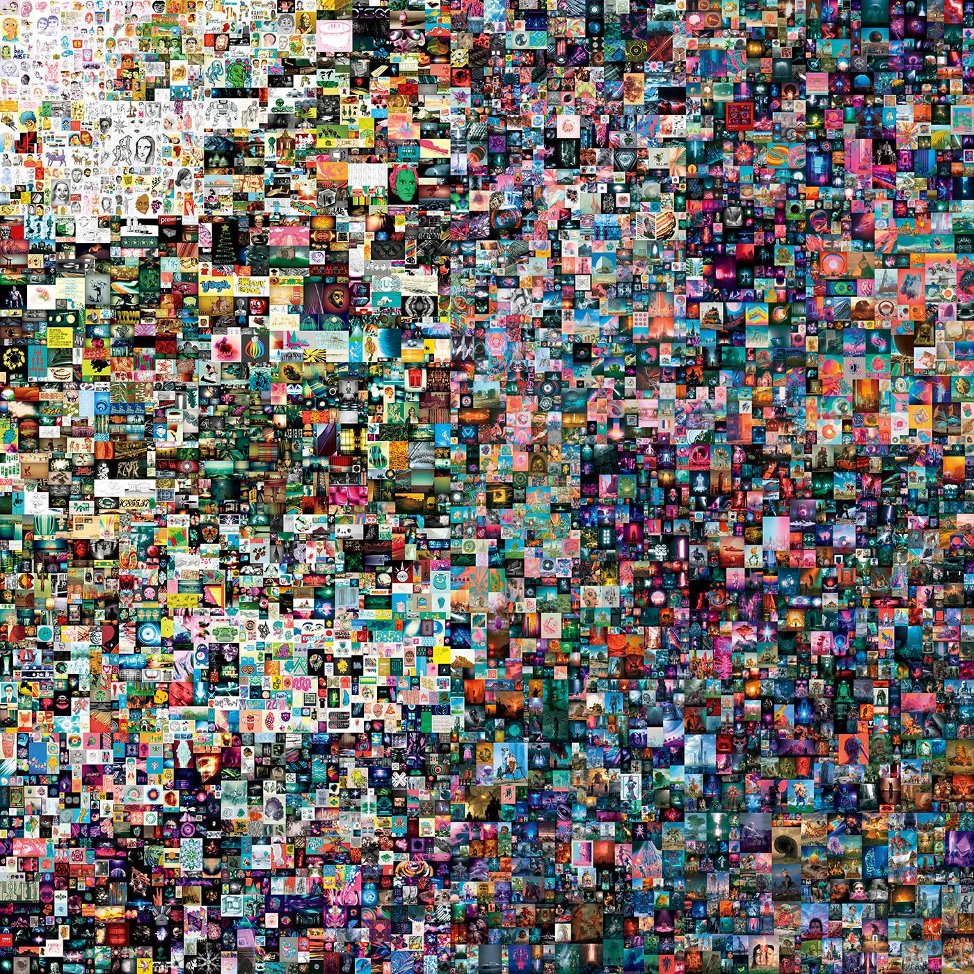 約75億円で落札された作品「Everydays: The First 5000 Days」