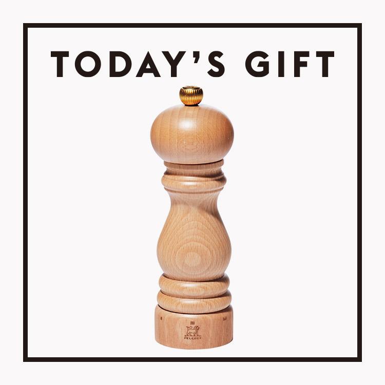 今日のギフト:〈プジョー〉のペッパーミル