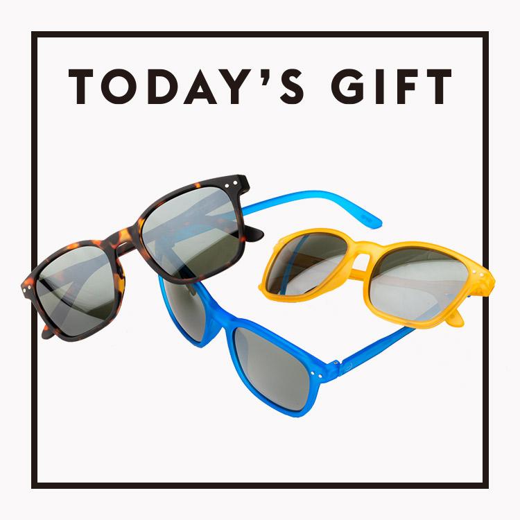 今日のギフト:〈イジピジ〉のサングラス
