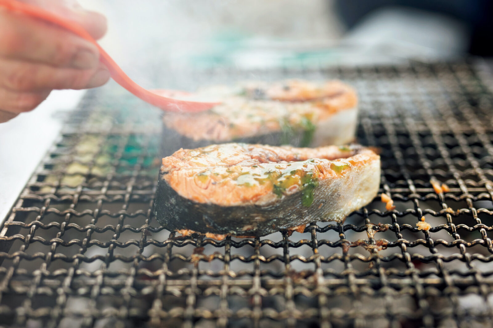 BBQ アウトドア 魚料理 シーフード