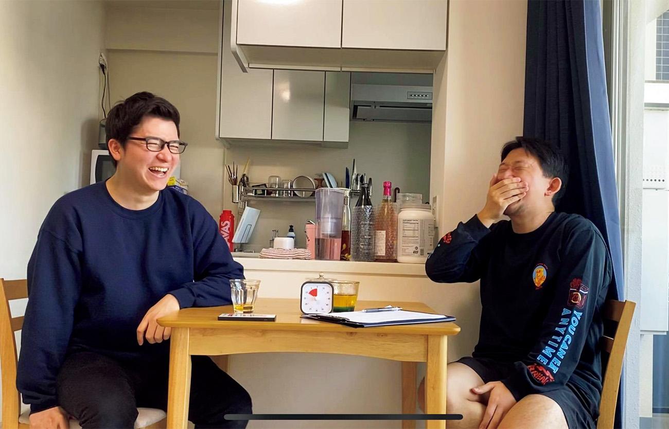 〈やる気あり美〉太田尚樹さんとみしぇうさんによるお悩み相談番組『そうだ!ゲイにカミングアウト』収録場面