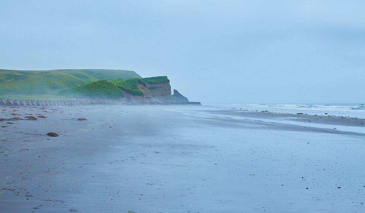 別当賀フットパスで辿り着いた海岸。
