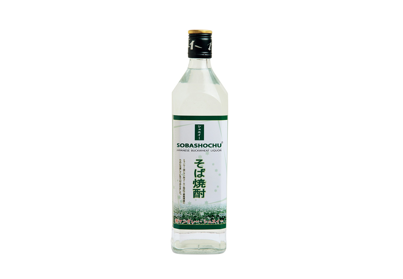 ミャンマー産のそば焼酎¥550~。