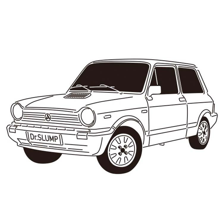 ウトビアンキ・A112 アバルト イラスト