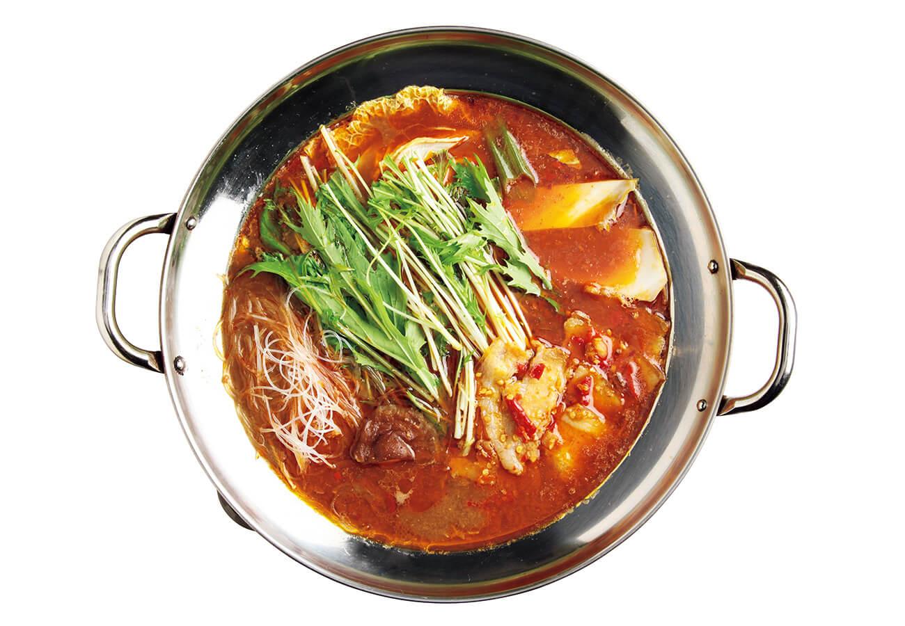 豆豉火鍋¥2,750(2人前)。