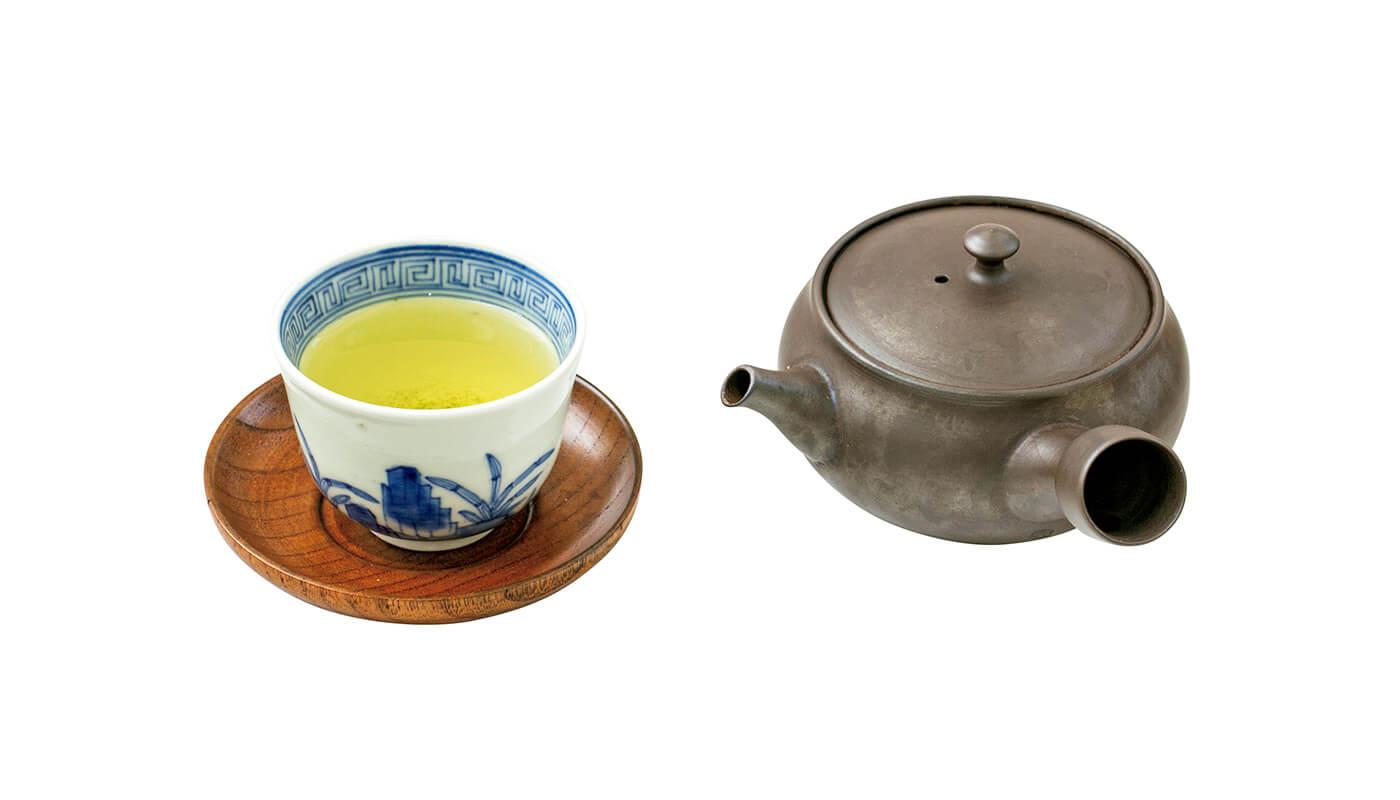 朝セットAに付く日本茶。