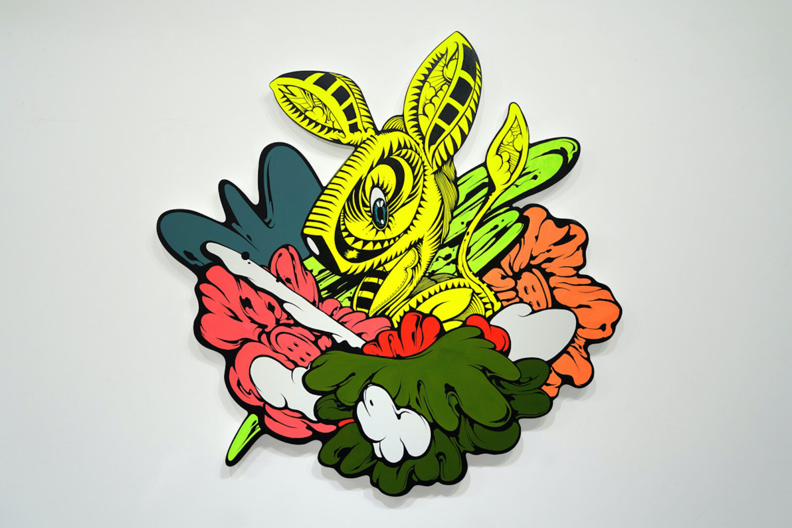 現代アーティスト・SHUN SUDO Patio 05, 2021 Acrylic on wood