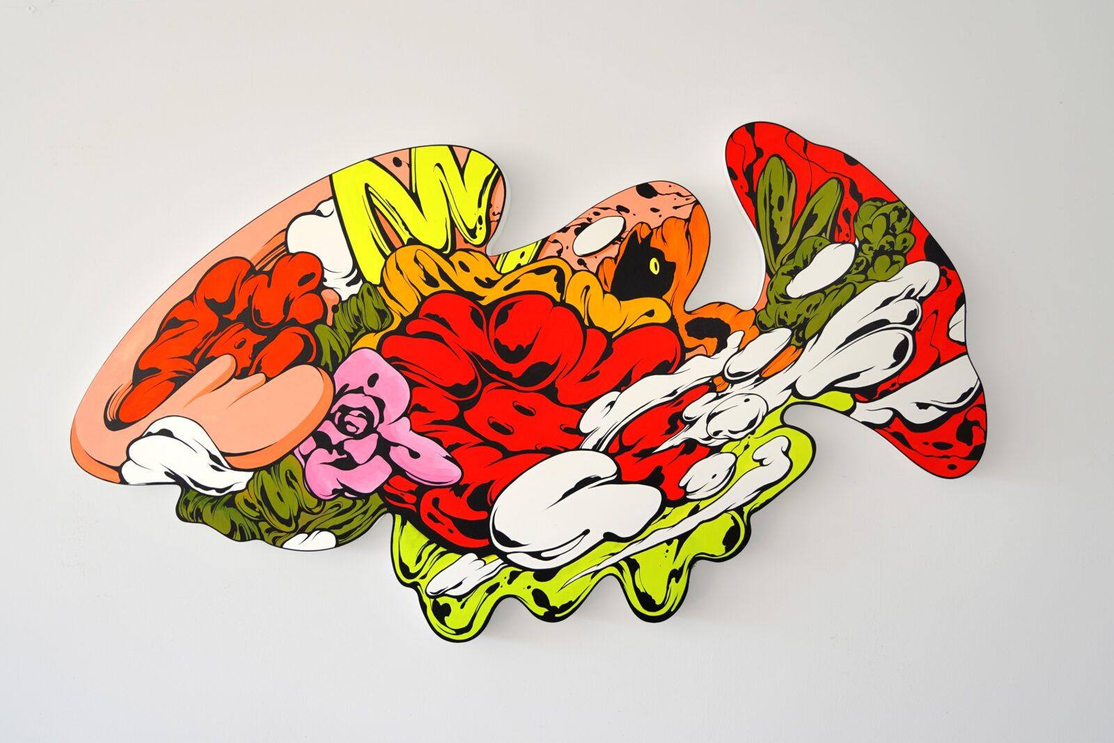 現代アーティスト・SHUN SUDO Patio 14 Acrylic on wood